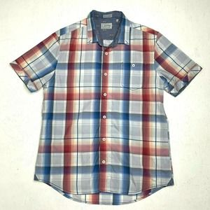 7 Diamond Shirt Short Sleeve Button Down Plaid